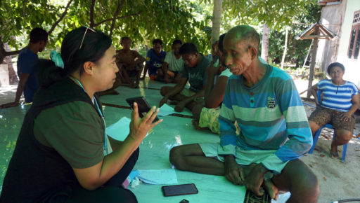 Interviewing local community in Oenggaut Village, Rote Barat Sub-district